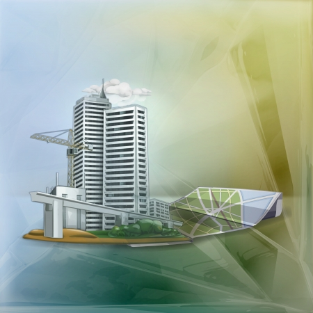 City background Illustration