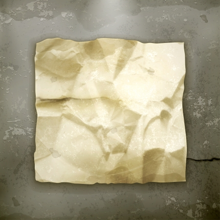 Crumpled paper old style