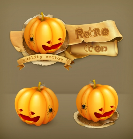 Halloween Pumpkin, icon Illustration