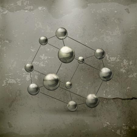 molecule icon old style Stock Vector - 22221992