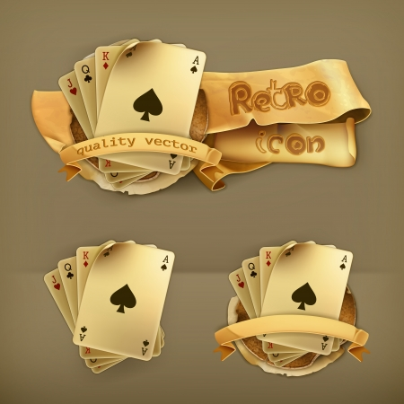 playing cards: Playing Cards, icon Illustration