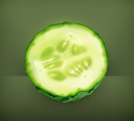 cross section: Slice of cucumber