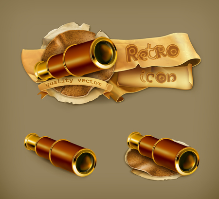 Spyglass icon Vector