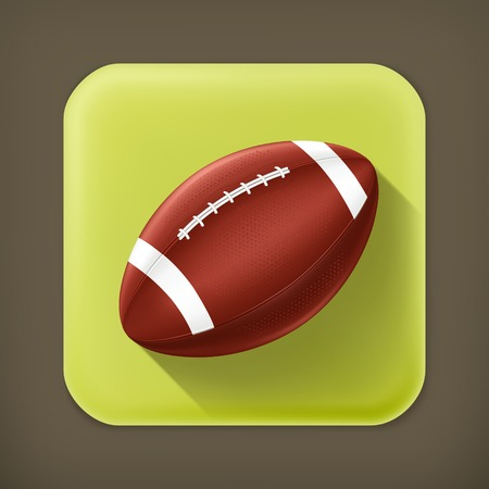 seam: American Football, long shadow vector icon