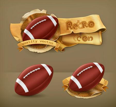 American Football, vector icon Vector