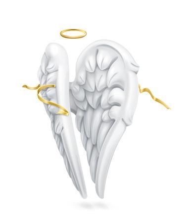 3d dove: Angel wings vector