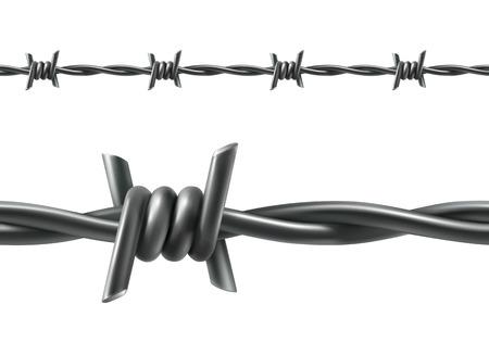 barbed wires: Alambre de p�as de vectores sin fisuras
