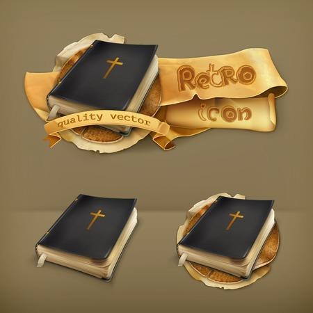 Bible, vector icon Illustration