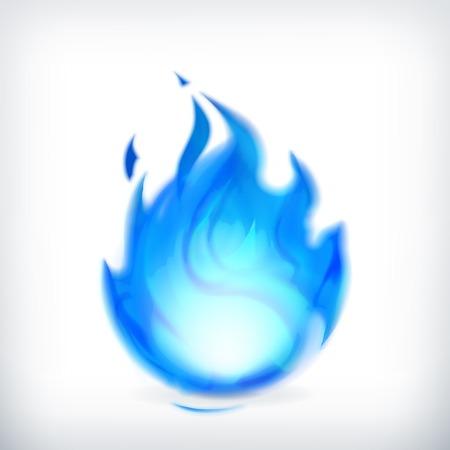 fuego azul: Fuego azul, icono de vector