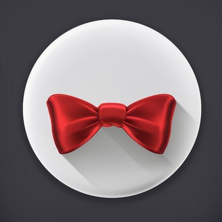 Bow tie, long shadow vector icon Vector
