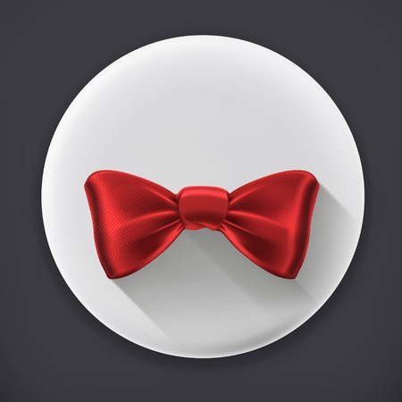 official wear: Bow tie, long shadow vector icon