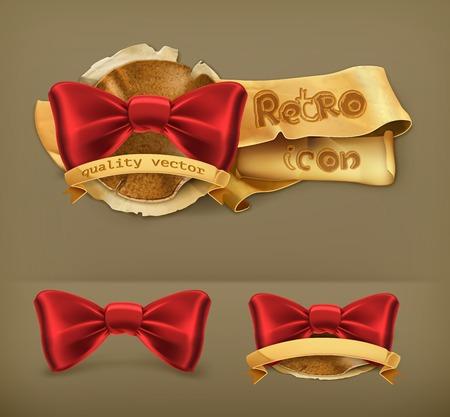 official wear: Bow tie, retro vector icon