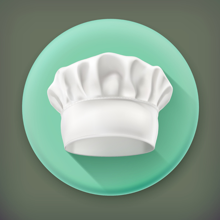 kitchener: Chef hat, long shadow vector icon