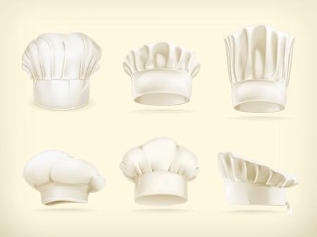 gorro chef: Sombreros del cocinero conjunto de vectores