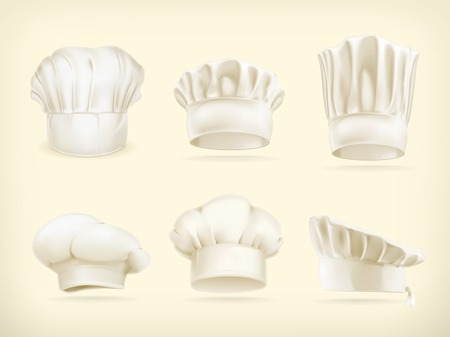 Chef hats vector set