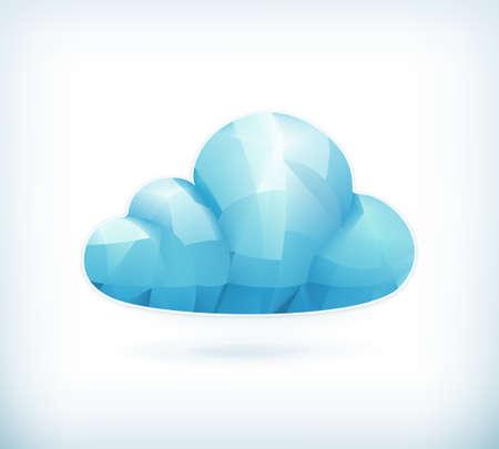 triangulation: Cloud triangulation, icon
