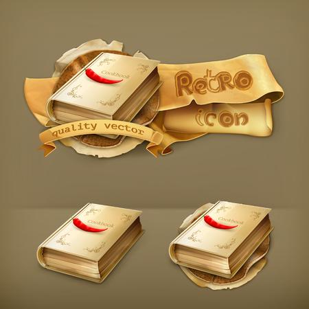 recipe book: Cookbook vector icon