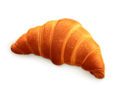 Croissant, photo realistic vector illustration