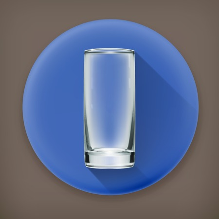 highball: Empty glass long shadow icon