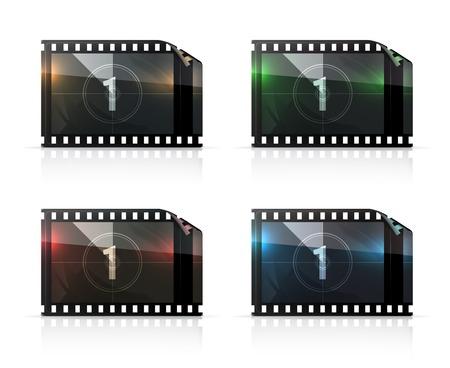 cinema screen: Film strip set