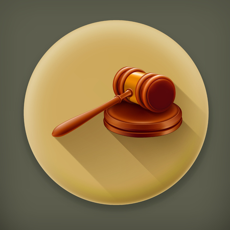 proceeding: Gavel long shadow icon