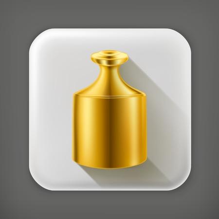 etalon: Gold highest standard long shadow icon