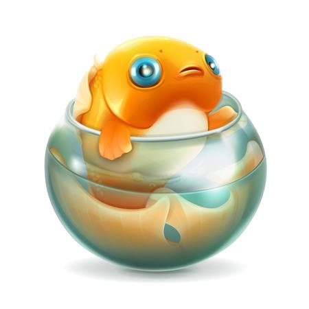 goldenfish: Goldfish in aquarium