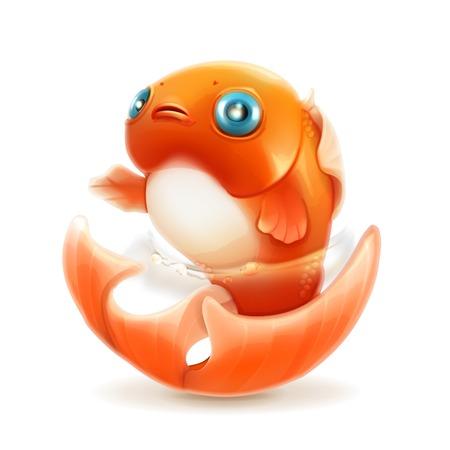 ocean cartoon: Goldfish icon