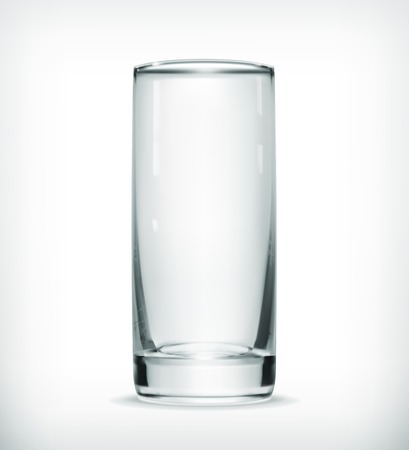 Empty glass illustration with transparency