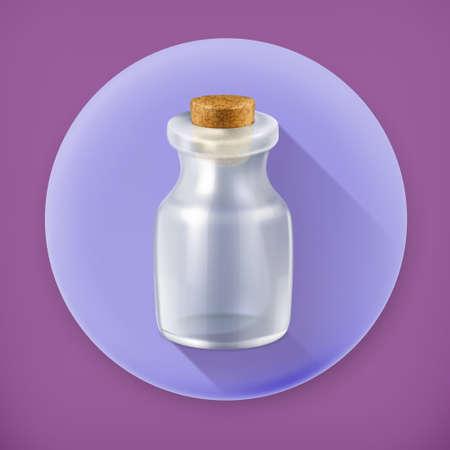 empty jar: Empty jar long shadow icon