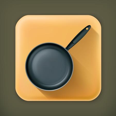 browning: Frying pan long shadow icon