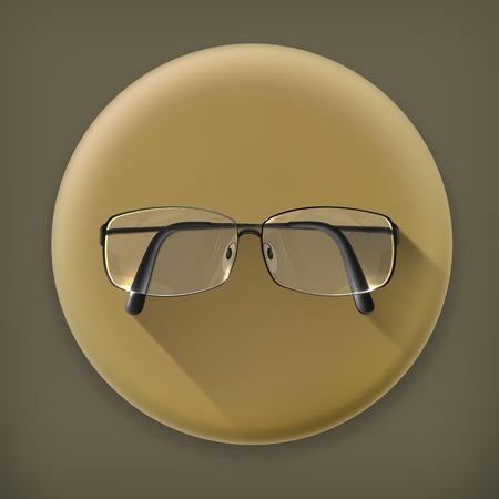 myopia: Glasses long shadow icon