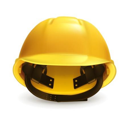 yellow hard hat: Hard hat icon Illustration
