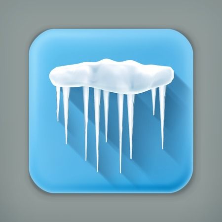 icily: Icicles, long shadow icon