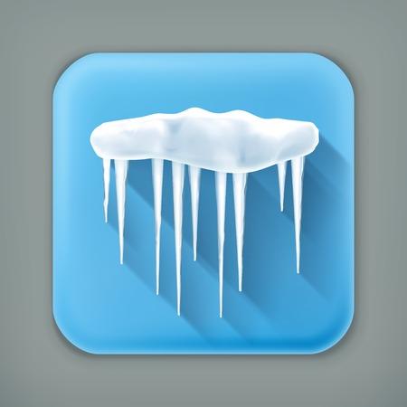 frigid: Icicles, long shadow icon