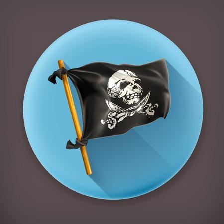 jolly roger: Jolly Roger long shadow icon