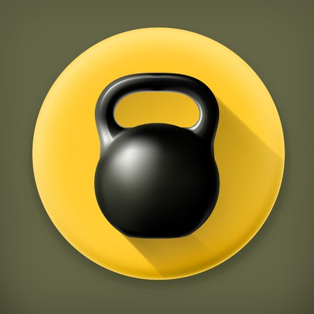 Weight long shadow icon Vector