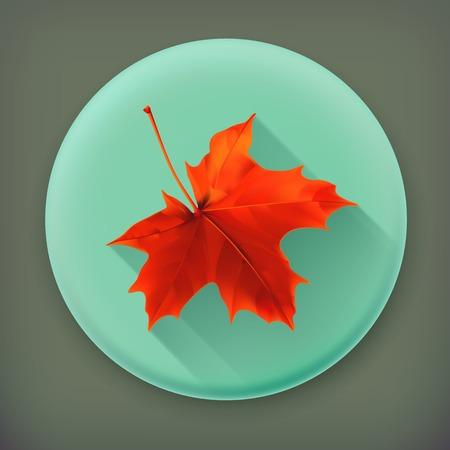 november 3d: Maple leaf, long shadow icon