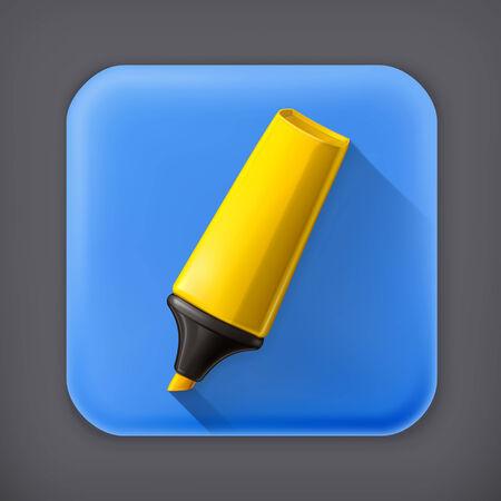 correttore: Marker, icona lunga ombra