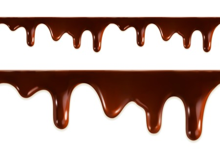 eating chocolate: Melted chocolate seamless