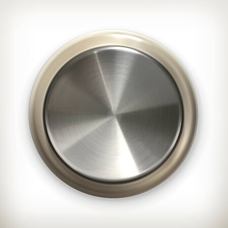 Metal button, detailed icon