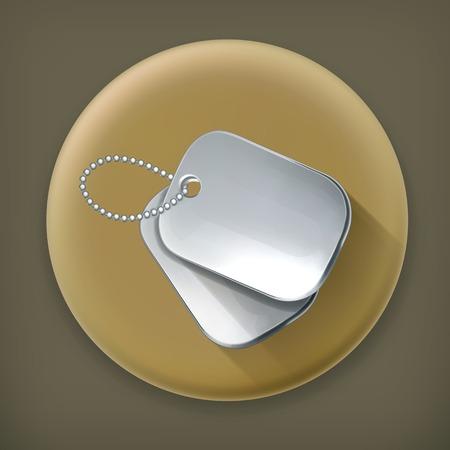 dangle: Military dog tags, long shadow icon