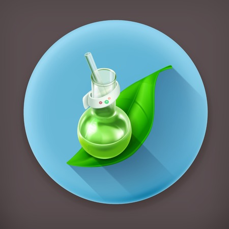 dissolving: Natural components, long shadow icon Illustration