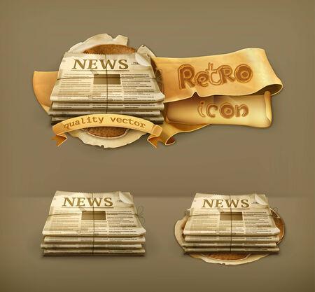 newspaper stack: Newspsper, icon