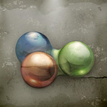 molecule old style  Vector