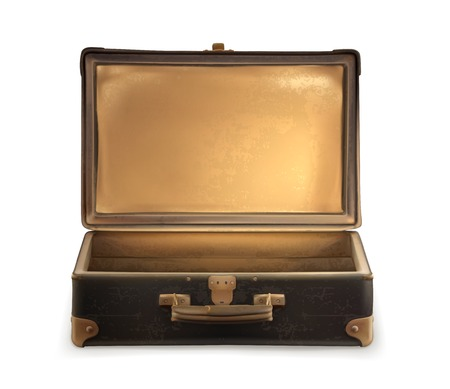 old suitcase: Old suitcase vector
