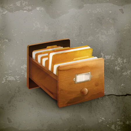 Open card catalog old style vector