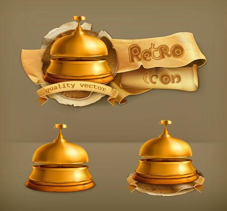 alert ribbon: Reception Bell, vector icon