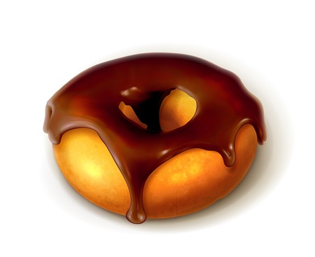 Ring donut in chocolate glaze