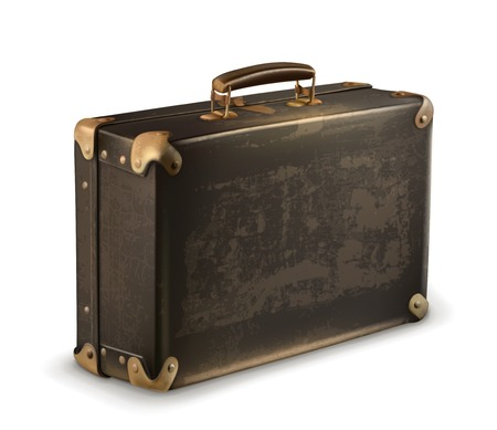 Old suitcase vector Vector